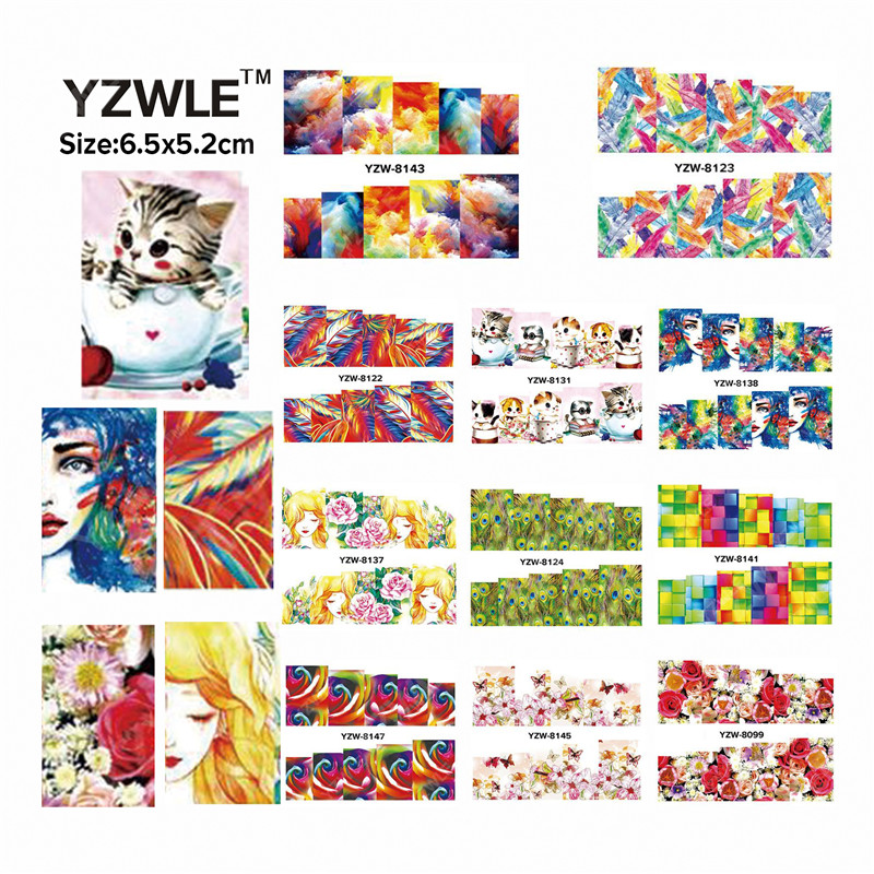 YZWLE 49 Sheets DIY Decals Nails Art Water Transfer Printing Stickers Accessories For Manicure Salon  YZW(D-8099-8147)<br><br>Aliexpress