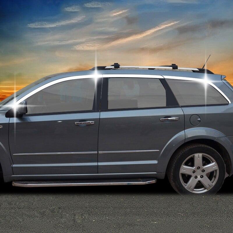 Car & Truck Parts Automotive Exterior Mirror Cover Shiny Chrome Abs Moulding Trim Fit Dodge Journey 2012-2018