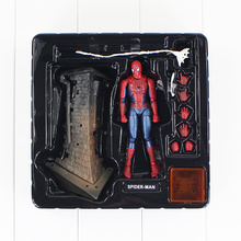 13.5cm Spider-Man Action Figure Sci-Fi Revoltech Series No. 039 Spiderman Web Toy Marvel Superheroes Amazing Model Doll