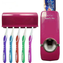 High Quality Bathroom Set toothpaste Squeezer Touch Me Auto Toothpaste Dispenser & Toothbrush Holder