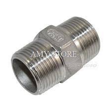"3/4"" Male x 3/4"" Male Hex Nipple Stainless Steel 304 Threaded Pipe Fitting BSP(China)"