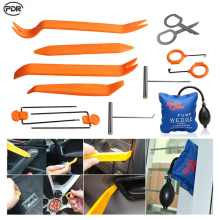 Super PDR Pump Wedge Locksmith Tools Airbag Open Car Door Lock Opening Tools + Car Radio Panel Removal Tools 13pcs/set