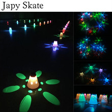 Japy Skate 10 Pcs LED Lighting Skating Cone Cups Roller Skate Sports, Chargeable battery inside, Bright Light for Slalom Skate