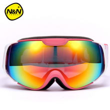 Boys Girls Skiing Goggles Outdoor Safety Child Snowboard Dual Layer Lens Anti-Fog Snow Ski Glasses Eyewear Sport Kid Mask NH6002(China)