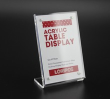 9*6cm frame L strong magnetic advertising tag sign card clip display stand Acrylic table Desk menu service Label Holder Stand(China)