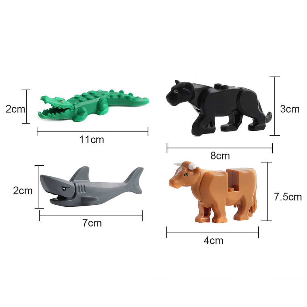 Crocodile Tiger Cow Buildable Model kids Gift Animal Building Blocks Fit Lego