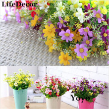 Silk Artificial Flowers For Wedding Home Decoration 28 Heads Fake Daisy Cheap China Real Touch Flower Plants Grass Without Pots