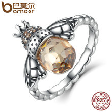 Buy BAMOER 100% Authentic 925 Sterling Silver Orange Wing Animal Bee Finger Ring Woman Sterling Silver Jewelry SCR025 for $8.44 in AliExpress store