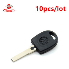10pieces/lot new arrive Blank Shell For Volkswagen (VW) B5 Passat Transponder Key (HU66) + with logo Free Shipping