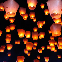 NEW 10pcs/lot Colorful Kongming Lantern Flying Wishing Lamp Sky Lanterns,Birthday Wedding Party Decoration Chinese Lantern KM003(China)