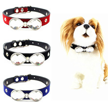 Unique Fancy Leather Hand Made Rhinestone Cool Bling Dog Puppy Collars,Small Dog & Cat Personalized Collar Gifts Accessories
