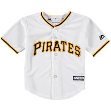 MLB Toddler Pittsburgh Pirates Baseball White Official Cool Base Jersey(China)
