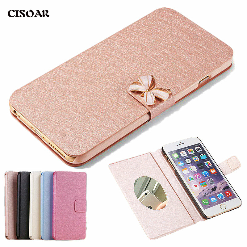 Doogee Shoot 2 Case 5.0inch Wallet Style Luxury PU Leather Protective Back Cover Doogee Shoot 2 Phone Bag Cases Mirror