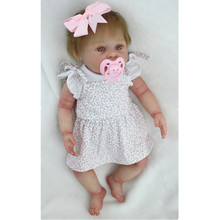 "Buy New Bebe Bonecas 16"" 43cm Realistic Silicone Reborn Baby Dolls Sale Newborn Baby Girl Dolls Gift Children Play House Toys"