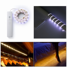 1M PIR Motion Sensor Night Ligt LED Light Strip Wireless Battery Operated For Wardrobe Cabinet Closet Under Bed Kitchen 3 Modes(China)