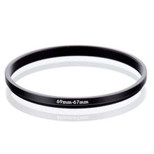 RISE(UK) 69mm-67mm 69-67mm 69 to 67 Step down Ring Filter Adapter black free shipping