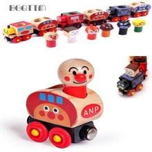 New Wooden Dinky Magnetic Toys Tractor Models Voiture Railway Kids car-styling Boy Car Cheap Toys For Children Educational Gift