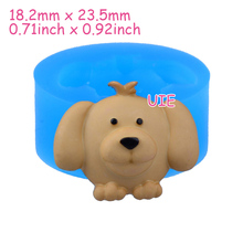 DYL062U 23.5mm Dog Silicone Push Mold - Animal Mold Sugarcraft, Fondant, Resin Jewelry Making, Cabochon Candy, Resin Clay Mold