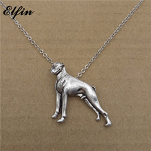 Elfin Wholesale 2017 Trendy French Bulldog Necklace Fashion Dog Jewellery Chinese Shar Pei Pendant Necklace Women Steampunk(China)
