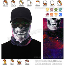 TRACKABLE SHIPPING Trendy Starry Skull Multi-Purpose Seamless Face Shield Multifunctional Bandana Tube Neckwear Sport Head Wrap(China)