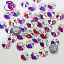 2028 AAAAA SS3-SS40 Clear AB Crystal Glass Hotfix Rhinestone Hot fix Crystal Flatback Rhinestone for DIY Deocration B0615(China)