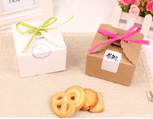 Qin.12.13 box packaging for individual cookies mini kraft cookies packaging box paper gift cookies box for wedding carton box