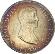 Philippines Coins 1822 Crowned Y.II Countermark On Mexico 8 Reales Brass Silver Plated Copy Coin Can Custom Big Amounts