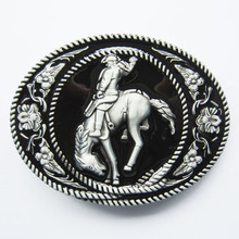 Retail Distribute Western Horse Rider Belt Buckle BUCKLE-WT050 Free Shipping
