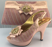 4 different color available lastest design lady shoes and bags sets to match High quality ME3307 size 38~42(China)
