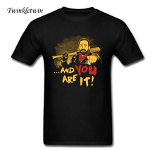 2017 Hot Sale Fashion The Walking Dead Neagn T Shirt New Designed Men Short Sleeve TWD T-shirt Guys Personalized Hipster Tees(China)