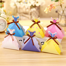 24pcs Baby Shower Child Birthday Party Supplies Princess Skirt Folding Gift Box Candy Box wedding Christmas favors gifts(China)