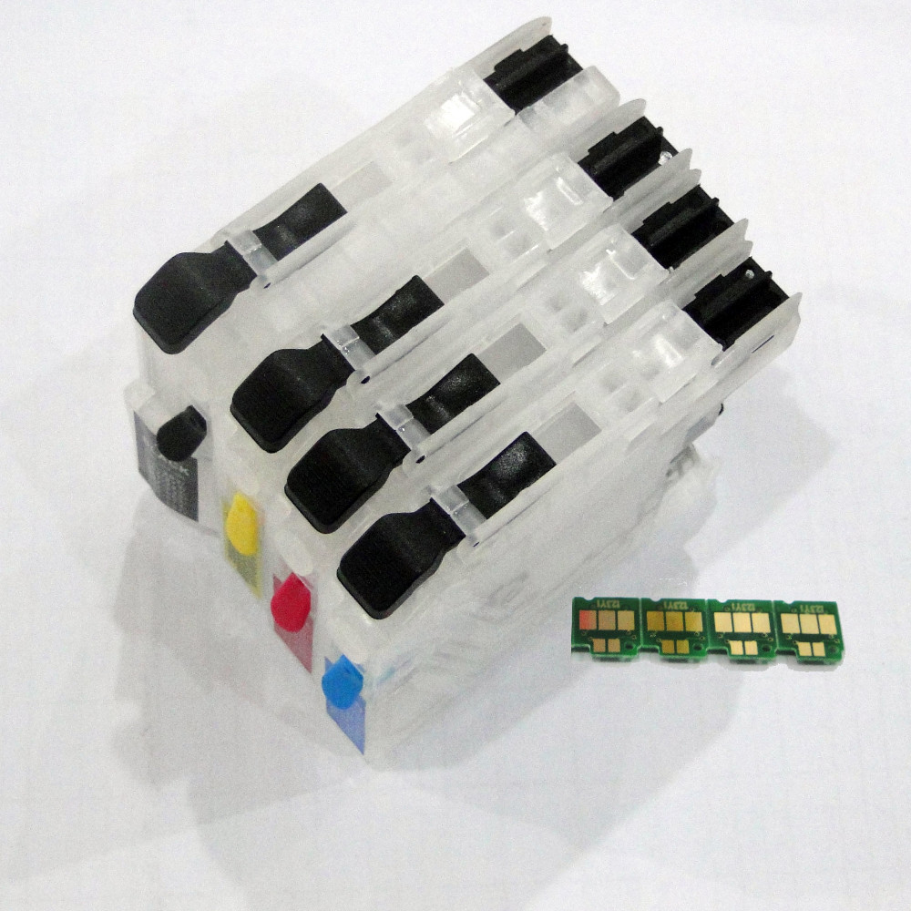 1set Refillable ink cartridge LC 211 LC211 for Brother MFC-J880N DCP-J962N MFC-J730DW MFC-J830DW MFC-J900DW MFC-J990DW<br><br>Aliexpress