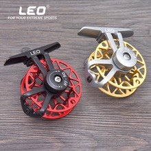 LEO Full metal ultra-light former ice fishing Reels wheel fly fishing reel CNC Machined Aluminum(China)