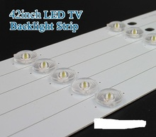 "10pcs x 42""inch Aluminum Plate LED Strips w/ Optical Lens Fliter TV Panel Backlight Lamps Length 435mm 5pcs LED Free Shipping"