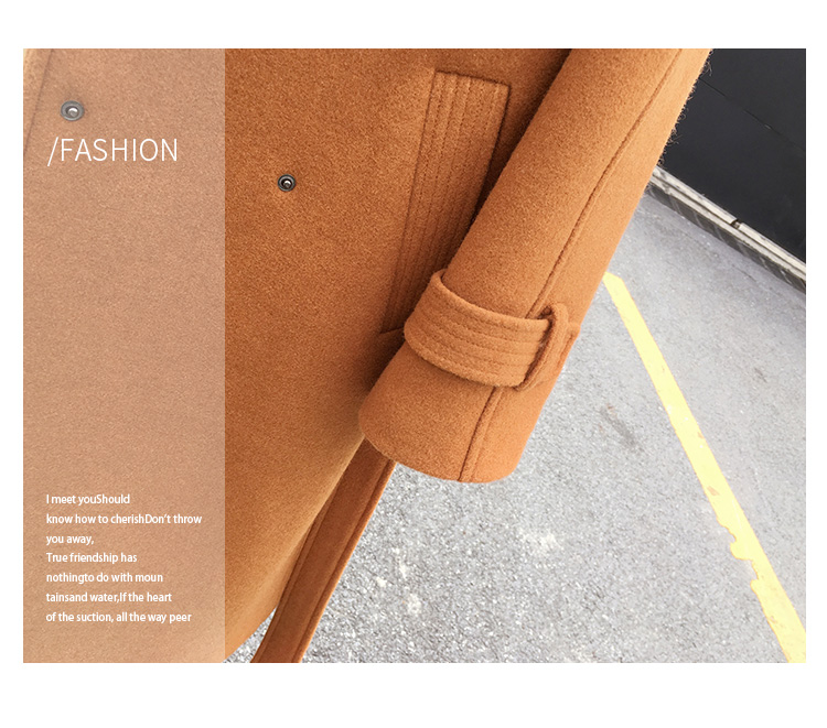 Mishow 19 autumn and winter woolen coat female Mid-Long New Korean temperament women's popular woolen coat MX17D9636 24