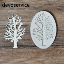 Dry Tree Design 3D Cake Border Silicone Mold For Fondant Gumpaste Cupcake Cake Decorating Tools Icecream Gummy Chocolate Moulds