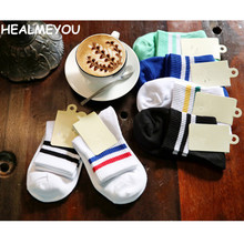 2017 Fashion Cotton Sock Casual Women Socks Wholesale Couples Sox with Harajuku Style Men Sock drop shipping(China)