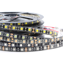 RGB Strip Light 5050 SMD black PCB Self Adhesive tape Lights led Christmas light fairy light Wedding home garden Outdoor decor(China)