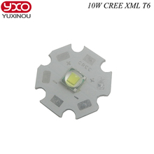 1 PCS CREE XML XM-L T6 LED U2 10W WHITE High Power LED Emitter with 12mm 14mm 16mm 20mm PCB for DIY