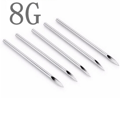 100PCS 8G Body Piercing needles Assorted Sizes Sterile Needles Supply free shipping