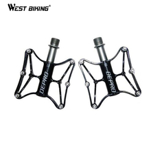 MTB Ultralight Bike Bicycle Pedals Mountain Bike Pedal Mountain Road Cycling CNC/Titanium Pedals Skid 9/16 Bicycle Bike Pedals