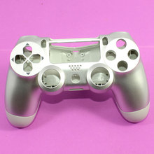 5X Silver Housing Shell for Sony PS4 Playstation 4 Wireless Controller Replacement, Free shipping.
