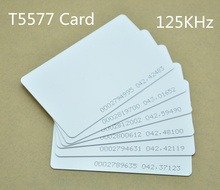 50pcs/lot  ISO thin card T5577 chip rewritable proximity 125KHz RFID card
