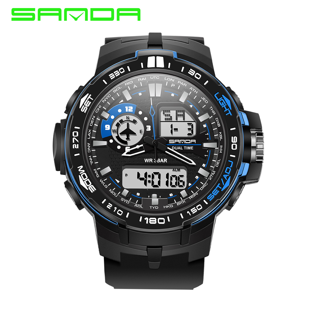 Watches Men 2017 SANDA Fashion Brand Quartz Clock Army Military Sport Watch Digital Wristwatches Waterproof relogio masculino<br><br>Aliexpress
