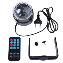 New Products 2017 LED RGB Crystal Magic Ball Effect Lights Party Lighting with Remote Controller Party Disco Club DJ Light Show