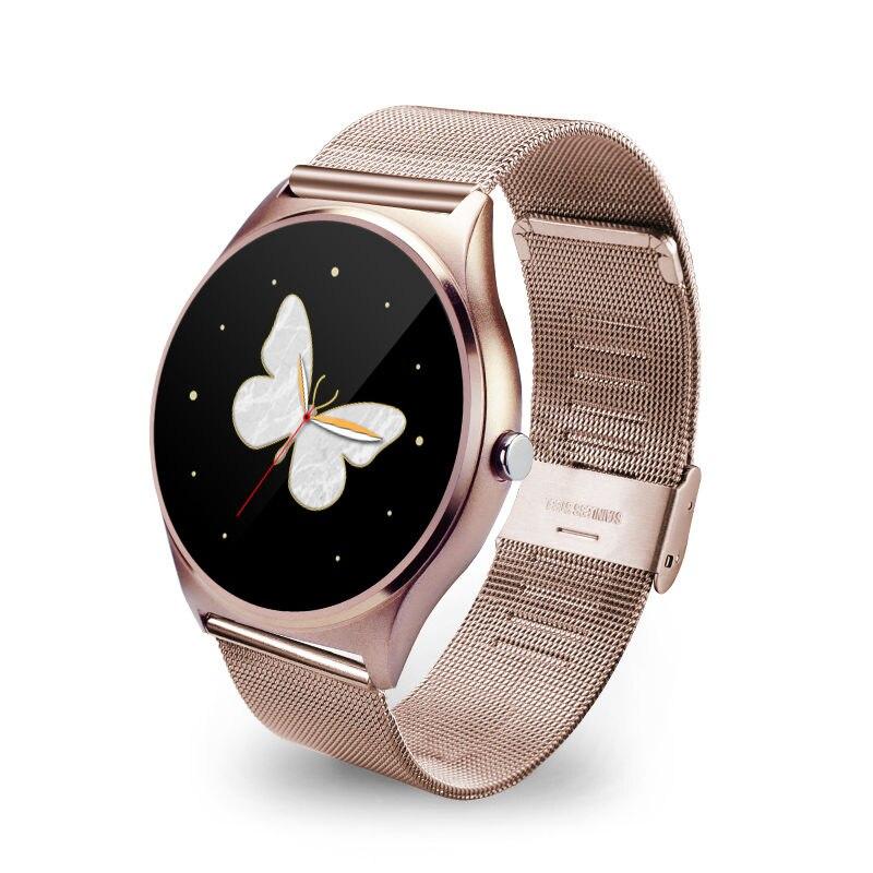 FLOVEME Luxury Wearable Smart Watch Stainless Steel Smartwatch Metal Strap Bracelet Men Women For iPhone Android Fashion Watches<br><br>Aliexpress