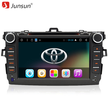 "Junsun 8"" 2 Din Android 6.0 car dvd radio autoradio gps navigation Radio Steering wheel controls For Toyota corolla 2007~2011"