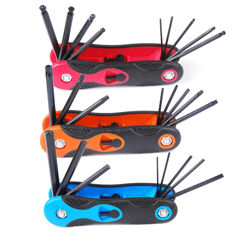 3pc New Folding Hexagon Key Set Torque Wrench 9pcs Hex Allen Wrench Screw Driver Set Metric ToolYAD1022<br><br>Aliexpress