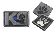 Embroidered K9 paw patch DOG service US army  swat morale tactical badges militare ISAF combat patches hook  for bag