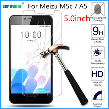 For Meizu M5c / A5 HD Tempered Glass 9H 2.5D Premium Screen Protector Film case For Meizu M5c / Meizu Blue Charm 5c / A5 5.0inch